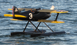 The Curtiss R3C-2 is back in the water again