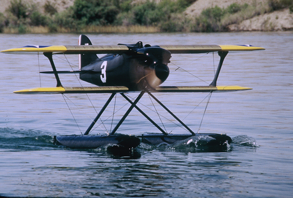 The Curtiss R3C-2 Giant Scale RC Model on the Water