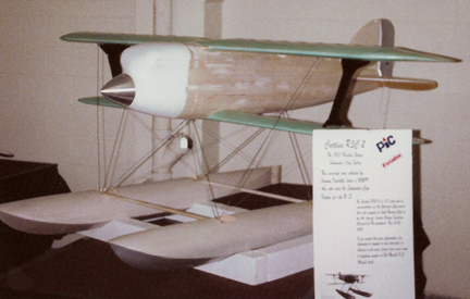 The Curtiss R3C-2 on display