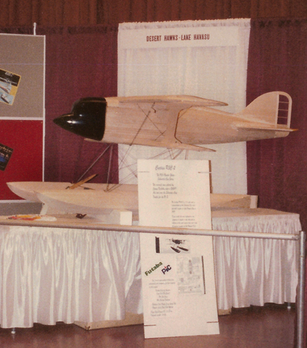 The Curtiss R3C-2 being displayed