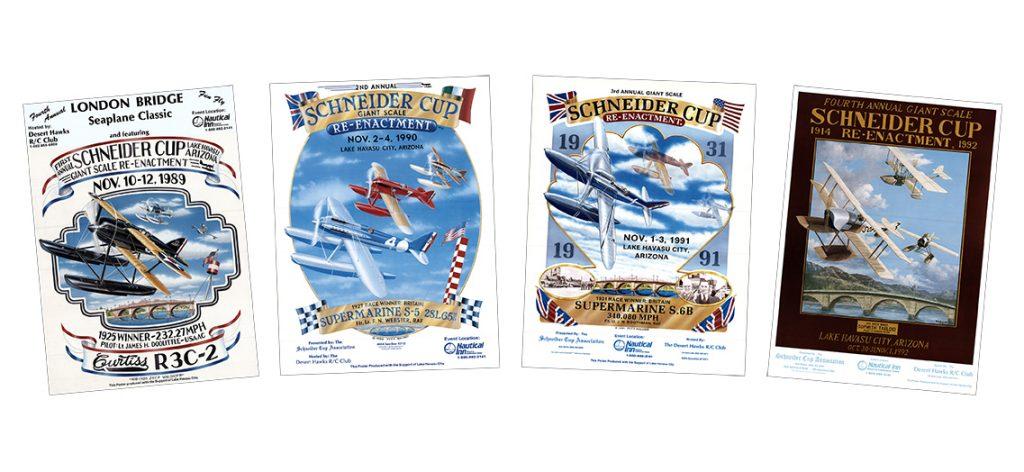 Schneider Cup Reenactment Posters